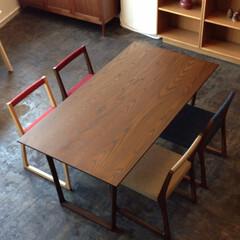 無垢材/テーブル/ダイニングテーブル/チェアー/椅子/Table/... kw357  wh_diningtabl…(1枚目)
