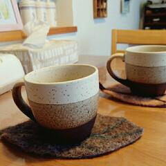 羊毛コースター/マグカップ/生活雑貨/キッチン/手芸/カフェ/... 一目惚れのコーヒーカップです(^-^)