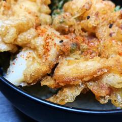 天丼/お家ごはん/おうちごはん/簡単/暮らし/うちの定番料理 ある日の夕ご飯🥢 美味しい天ぷら屋さんで…