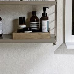 B & T バランシング トナー(化粧水)を使ったクチコミ「洗面所にリビングにあるウォールシェルフと…」