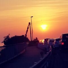 海沿い/夕日/ドライブ中/デイジー/ドナルド/おでかけ/... 和歌山県の海沿いをドライブ中のドナデジ♡…