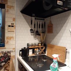 今年もあと少し/コーヒーメーカー/レゴ/マジックリン/キッチン掃除/カフェ風インテリア/... コンロ回りの大掃除! 換気扇も掃除しまし…