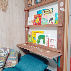 折り畳みテーブル/インテリア/DIY/ラブリコ/TANNER/折りたたみ式ブラケット/... 先日お迎えしたソファーベッドに合わせて、…