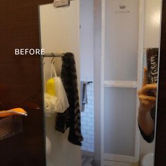 掃除グッズ/掃除/お風呂の水垢/ダイアモンド鱗取り/水垢落とし/お風呂掃除/... お風呂の鏡の水垢と格闘しました!  以前…