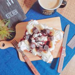 手作りおやつ/幸せ/高カロリー/チョコバナナ/おうちカフェ/おやつ/... またこんなもの作ってもうた😂 食べたいよ…