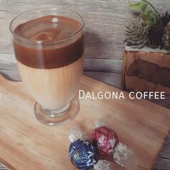 コーヒー大好き/カフェ風/コーヒータイム/ダルゴナコーヒー/おうちカフェ/暮らし 流行りに乗ってダルゴナコーヒー作ってみた…