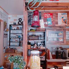 アメリカンカントリー/キッチン/カフェ風インテリア/アメリカンスタイル/アメリカンインテリア/レモンシロップ/... レモンシロップ仕込みました💕  我が家は…