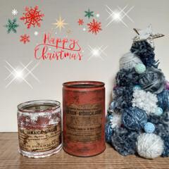 テラコッタ/デニム風/ポンポンツリー/リメ缶/クリスマス2019/リミアの冬暮らし/... 今日はいい天気ー😆 イブだけど、昨日エア…