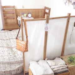 和室を洋室に/寝室/パーテーション/DIY 寝室には手作りパーテーション