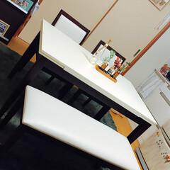 ダイニングテーブル/キッチン 家具屋さんのセールで、ダイニングテーブル…