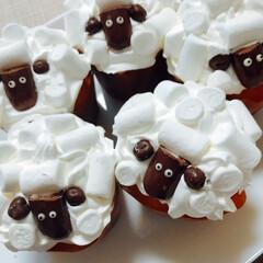 ひつじのショーン/スイーツ 娘が作ったカップケーキ♡ なかなかかわい…