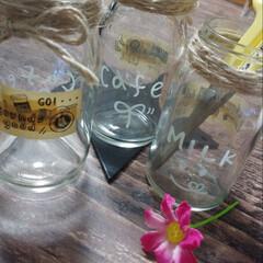 リメイク瓶/ハンドメイド/雑貨/100均 たくさん瓶をいただいたので、リメイクして…