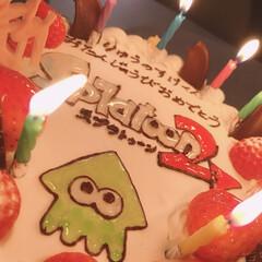 誕生日飾り付け/誕生日ケーキ/誕生日 昨日は息子の7歳のbirthday☆ ケ…(2枚目)