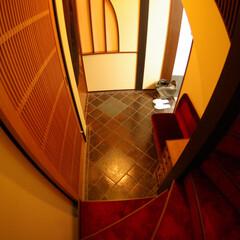 レトロ/玄関ホール/階段/和風/昭和 オールドチックだけど、新しい。そんな感じ…