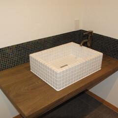手洗/洗面/トイレ リノベーションを昔の技法で治しましょうと…