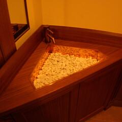 手洗/トイレ/洗面 お客様用トイレ。ワンオフで造りました。コ…