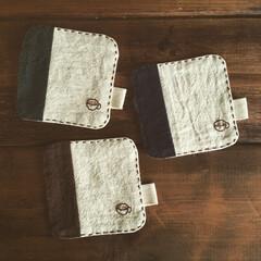 ハンドメイド/コースター/手縫い/ステッチ/コーヒーカップ/刺繍 コースター作りました。手縫いのステッチと…(1枚目)