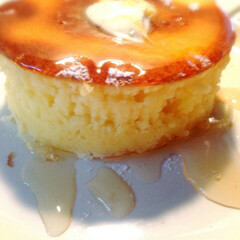 カフェ/厚焼きホットケーキ/自宅カフェ&雑貨 厚焼きホットケーキ♡  焼き時間は、約1…
