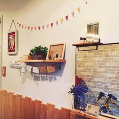 DIY/100均/セリア/ダイソー/カフェ/ハンドメイド201606/... カフェの入口を入ると ホームセンターで購…