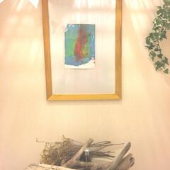 トイレ 3歳の娘の絵画を活かすためナチュラルシン…