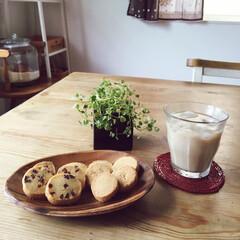 café au lait/ハンドメイドクッキー/café time/カフェ気分 お友達のハンドメイドクッキーでcaféタ…