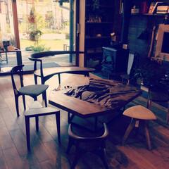 Living/無垢/KOMA/造作家具/リノベーション 薪ストーブと無垢家具に囲まれた生活
