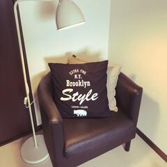IKEA1人用ソファー お気に入りの読書スペース^ - ^ ゆっ…