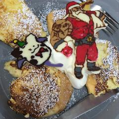 サンタ/フレンチトースト/モーモン/クリスマス/聖天の使い/ドラクエ/... クリスマスの時にチョコペンで作ったクリス…