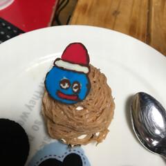 お菓子/チョコ/チョコペン/モンブラン/スライム/ドラクエ/... クリスマスにモンブランを作りました! さ…