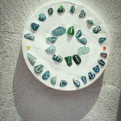 シーグラス/看板/DIY シーグラスを使った看板