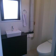 トイレリフォーム/和便から洋便/LIXILサティス 事務所のトイレをスタイリッシュにリフォーム