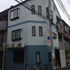 外壁塗装/塗り替え/外装リフォーム/シリコン弾性塗装/ツートンカラー抜塗り替え/青い家