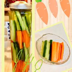 ピクルス/野菜 昨日きゅうりとにんじんを大量に頂いたので…