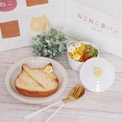 ネコ型/焼き色アート/ねこねこ食パン にゃー×朝食♡  ねこねこ食パン、やっと…(5枚目)