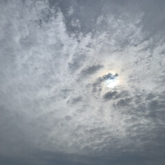 シャッター/朝の1コマ/風景/キレイ/曇 キレイな曇♡ 今朝の1コマ♡  雲がキレ…