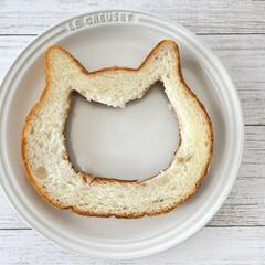 ねこねこ食パンアレンジ/ねこねこ食パン/22㎝/フライパン/ルクルーゼ/おうち時間/... にゃー×フライパン料理♡  先日の @g…(2枚目)