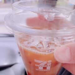 セブンイレブン/アイスコーヒー/蓋革命/飲みやすい/エコ/ECO セブンイレブンのアイスコーヒーがすごい❣…