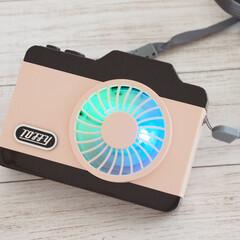 シェルピンク/ハンズフリーカメラファン/LED/ファン/雑貨/おうち時間/... [Toffy]LEDハンズフリーカメラフ…(2枚目)