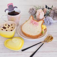 ねこねこ食パン/スライス生チョコレート/ハムカッター/ダイソー/DAISO にゃーサンド×ニャンティ♡  日曜日に食…(1枚目)