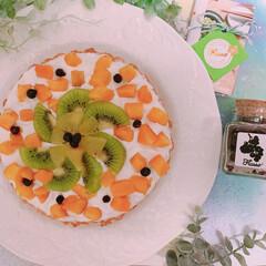 Flusso/Flussoアンバサダー/Flussoフルーツソルト/米粉タルト/タルト/米粉生活/... 【グルテンフリー!】フルーツ米粉タルト♡…