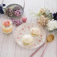 ルクルーゼ/桜/朝ごはん/タルタルソース/いぶりがっこ/カルディ/... マリトッツォ風♡おかず蒸しぱん♡  今日…(2枚目)