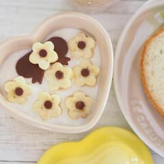 ねこねこ食パン/スライス生チョコレート/ハムカッター/ダイソー/DAISO にゃーサンド×ニャンティ♡  日曜日に食…(5枚目)