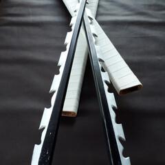 ハンドメイド/DIY/鬼滅の刃/伊之助/日輪刀/ホームセンター ホームセンターで売っている木材で 鬼滅の…