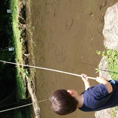 おでかけワンショット ニジマスの釣り堀でお魚を釣って、食べまし…(1枚目)