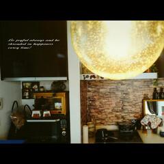 レンガ調/壁紙屋本舗/インテリア/キッチン/キッチン雑貨 真っ白のキッチン壁にレンガ壁紙を貼るの巻…