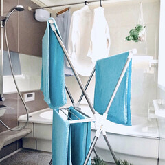 暮らし/洗濯どうしてる? 雨天の日は浴室乾燥してます。 浴室の防カ…