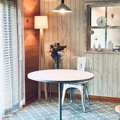 椅子 東谷 スチールチェア アイボリー PC-133IV ヴィンテージ インテリア 新生活 オシャレ カントリー 4985155146178 | 東谷(その他椅子、スツール、座椅子)を使ったクチコミ「食事とは別にカフェ風にラウンドテーブルを…」