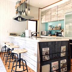 整水器 トリムイオン TRIM ION NEO(イオン発生器)を使ったクチコミ「我が家のカフェ風キッチンです。」