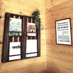 ブックシェルフ/すのこ/DIY/インテリア/収納 すのこ2枚に木材数本で作ったブックシェル…