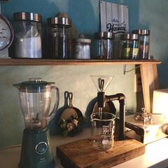 (DULTON)ダルトン アメリカンキッチンスケール 全9色 量り お料理はかり 秤 計量器 クッキングスケール 台所用はかり 100-061 | DULTON(クッキングスケール)を使ったクチコミ「ブルー×シルバーのキッチンに お気に入り…」
